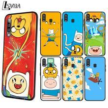Adventure Time Finn Jake Anti-fall Phone Case for Samsung Galaxy A90 A80 A70S A60 A50S A40 A20E A20 A10S Soft Black Cover поло print bar adventure jake