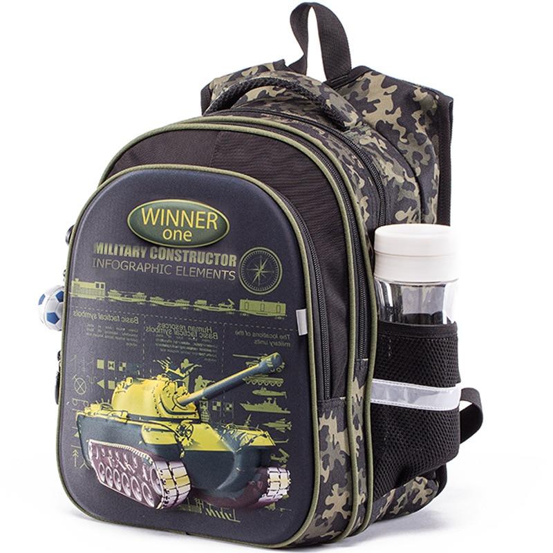 Winner One Children School Bags For Boys 3D Cartoon Car Tank School Backpacks Orthopedic Backpack Primary School Kids Satchel