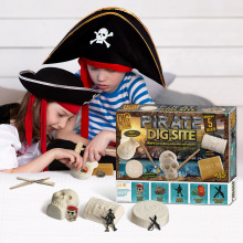Creative DIY dig crystal pirate treasure archaeological children puzzle explore dig toy boy girl gift