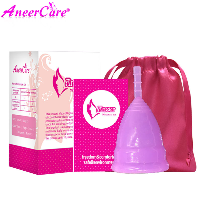 Image 5 - 50Pcs Retail Menstrual Cup For Women Feminine Hygiene Product Medical Grade Silicone Vagina Use S/L Size For Choose Anner Cup-in Feminine Hygiene Product from Beauty & Health