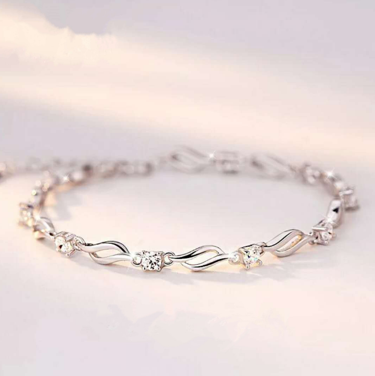 SZ0026-G    18CM New Fashion Bracelets For Women With Crystal Stone Charms Women's Bracelet Engagement Gifts
