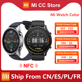 Original Xiaomi Smart Watch Color NFC 1.39'' AMOLED GPS Fitness Tracker 5ATM Waterproof Sport Heart Rate Monitor Mi Watch Color 1