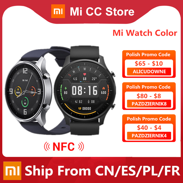 Original Xiaomi Smart Watch Color NFC 1.39'' AMOLED GPS Fitness Tracker 5ATM Waterproof Sport Heart Rate Monitor Mi Watch Color 1