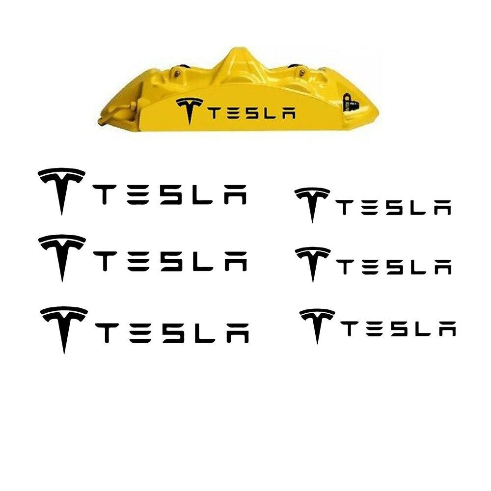 6 шт. для Tesla Hi Temp тормозной суппорт виниловая наклейка