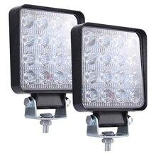 Светодиодная световая панель, 2 шт. 4 дюйма 160 Вт квадратный рабочий свет ближнего света светодиодный противотуманный свет грузовик свет дальнего света Лодка освещение для J eeps