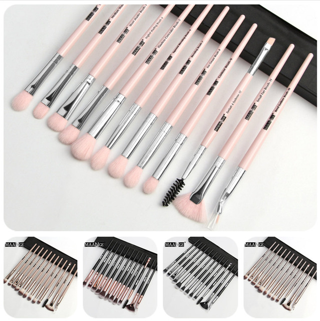MAANGE Pro  3/5/12 pcs/lot  Makeup Brushes Set Eye Shadow Blending Eyeliner Eyelash Eyebrow Brushes For Makeup New 1