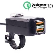 EAFC QC3.0 USB зарядное устройство для мотоцикла водонепроницаемый двойной USB быстрая замена 3,0 12 В адаптер питания Универсальная зарядка для телефона