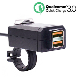 EAFC QC3.0 USB Motorcycle Charger Waterproof Dual USB Quick Change 3.0 12V Power Supply Adapter Universal Charge for Phone