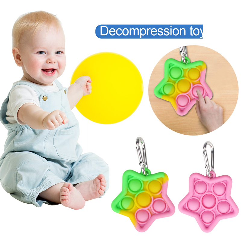 Silicone Toys Board-Game Ice-Cream-Shaped Fidget Squeeze Fun Push Bubble Adult Stress img3