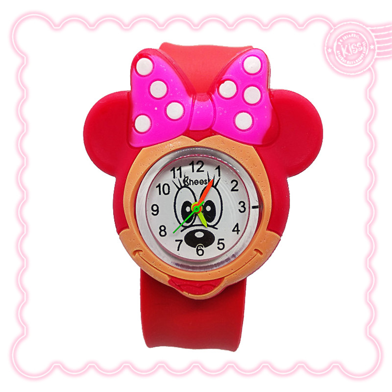 New 3D Cartoon Lovely Mickey Watch Children Girls Boys Students Kids Popular Quartz Wrist Watches Minnie Mouse Regarder Clock