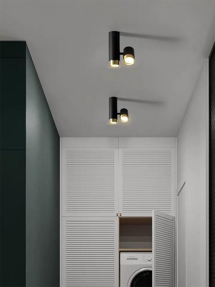 Duplo-headed downlight superfície montado spotlight led luz