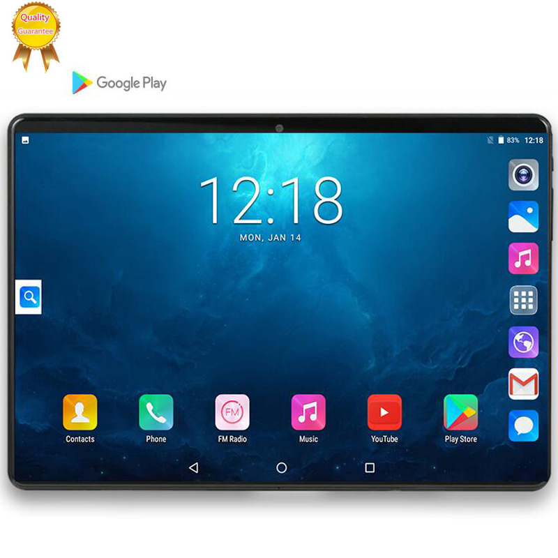 Tablet Holder 128G MTK6753 10 Inch Tablet PC Android 9.0 6GB RAM 128GB ROM 8 Octa Cores Dual Cameras 5.0MP 1280 800 IPS 3G Phone