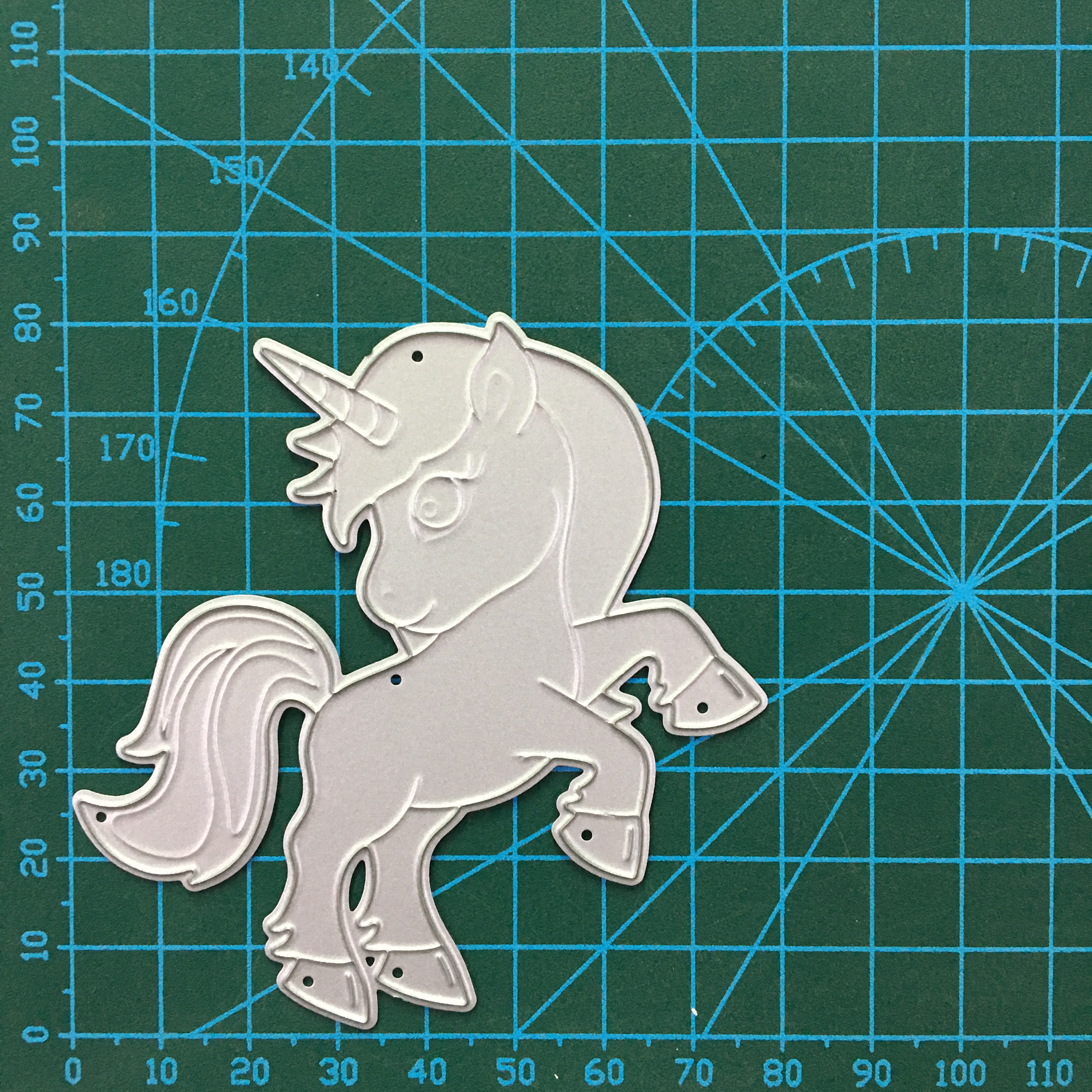 New Unicorn bow Metal Cut Dies Stencils for Scrapbooking Stamp photo album Decorative Embossing DIY Paper Cards in Cutting Dies from Home Garden