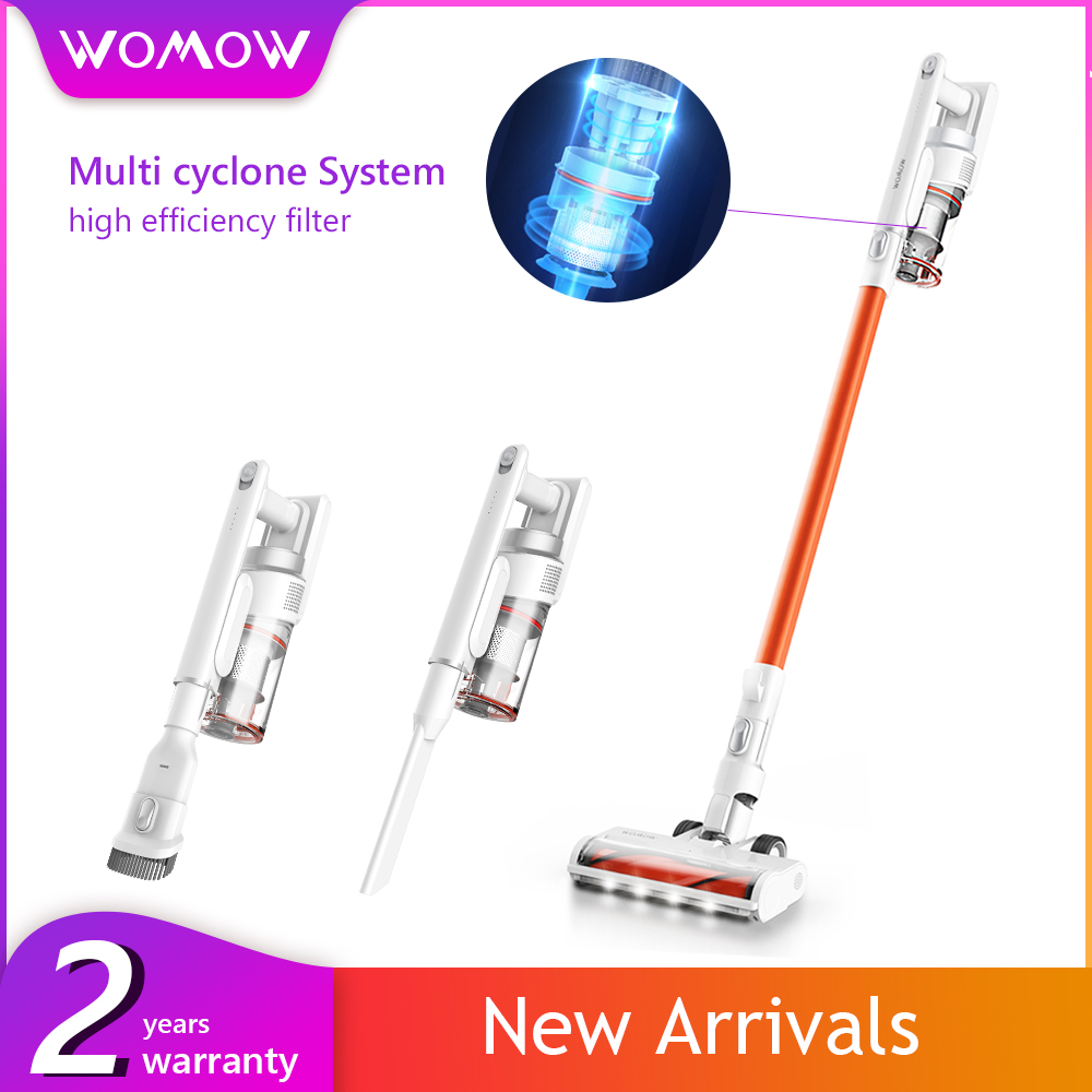 Womow W5G Wireless Vacuum Cleaner 2.9lb Ultra-Lightweight Stick Vacuum Rechargeable Battery 2 in 1 Cordless Vacuum Handheld Car