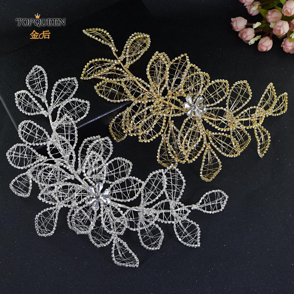 TOPQUEEN New Year Stage Catwalk Photography Hair Accessories Wedding Pageant Crown  Diamond Chain Hair Jewelry HP256