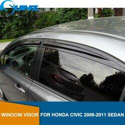 Seite Fenster Deflektor Für HONDA CIVIC 2006 2007 2008 2009 2010 2011 limousine Fenster Visor Vent Shades Sonne Regen Deflektor schutz SUNZ