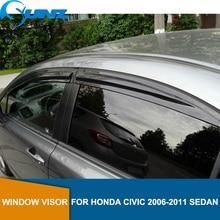 Side Window Deflector For HONDA CIVIC 2006 2007 2008 2009 2010 2011 sedan Window Visor Vent Shades Sun Rain Deflector Guard SUNZ window visor vent shades sun rain guard 4pcs for volvo xc60 2009 2015