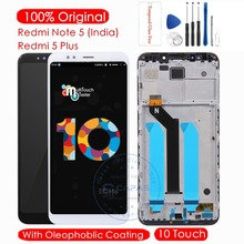 Original For Xiaomi Redmi Note 5 Indian LCD Display + Frame 10 TouchScreen For Redmi 5 Plus LCD Digitizer Replacement