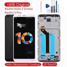 Original para xiaomi redmi nota 5 indiano display lcd + quadro 10 touchscreen para redmi 5 mais lcd digitador substituição