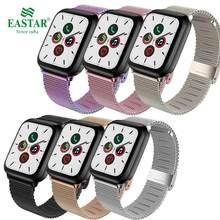 Milanese pulseiras para apple watch 38mm 42mm 44mm 40mm aço inoxidável pulseira masculina para iwatch 3 4 5 6 se