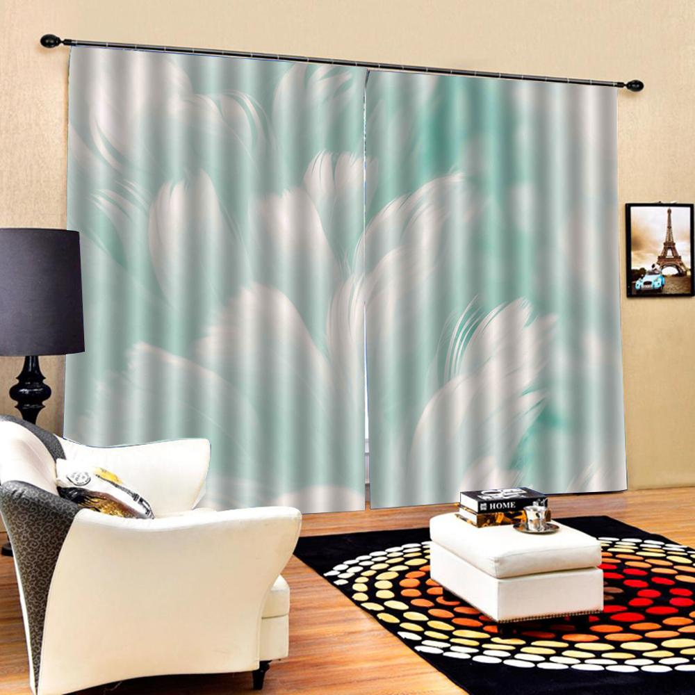 green curtains 3D Blackout Curtains For Living room Bedding room Drapes Cotinas para sala Decoration curtains
