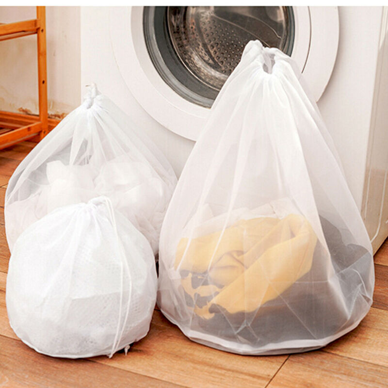 New Washing Machine Drawstring Mesh Net Bags Laundry Bag Large Thickened Wash Bags