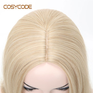 Image 5 - COSYCODE Synthetic Blonde Wig with Wavy Ends 24 Long Cosplay Wig for Women Heat Resistant Halloween Wig Non Lace Costume Wig