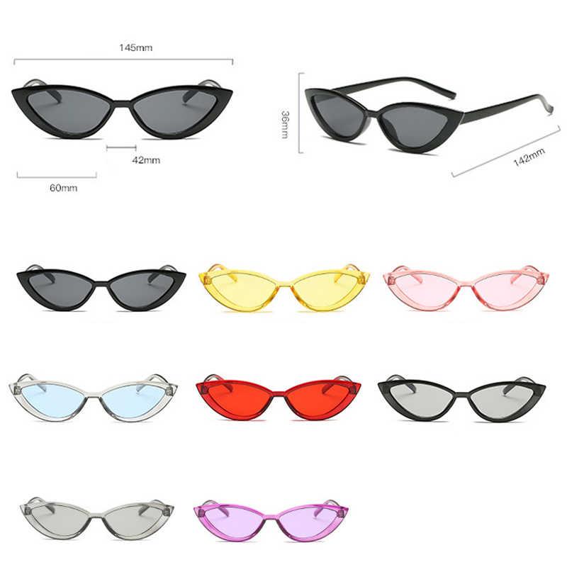Occhio di gatto Occhiali Da Sole Donne 2020 Dell'annata di Modo Nero Del Progettista di Marca Specchio Piccola Cornice Cateye Occhiali Da Sole Per La Femmina Shades UV400