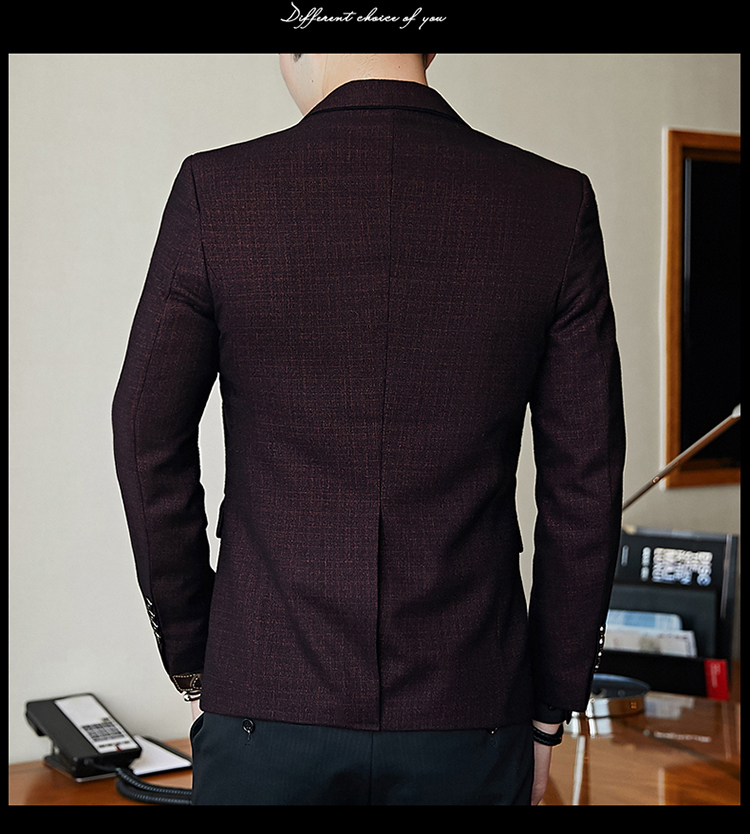 Hcaf3945e8a4e4408b79011481fb4a1f8v - Striped Blazer Mens Slim Fit Blazer Slim Masculino Business Casual Mens Stylish Blazer Spring Autumn Dot  Striped Blazers Mens