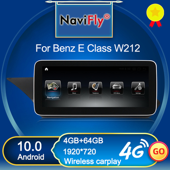 NaviFly Wireless Carplay Android 10 Car Multimedia Player For Mercedes Benz E class W212 E200 E300 E400 E500 Four doors Sedan image