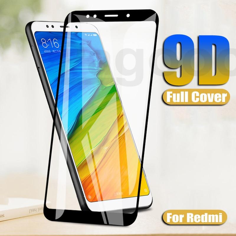 9D Premium Tempered Glass For Xiaomi Redmi 5 Plus 5A 4X 4A S2 GO 6 6A Redmi Note 5 5A Pro Screen Protector Protective Glass Film(China)