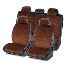 Seat Cushion Car-Seat-Cover Interiors Plush Luxury Long for Sedan SUV MPV 1set Suede