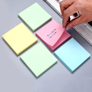 100 Sheets Cute Kawaii Sticky Notes Memo Pad Stationery Pads Notepad It Stationary office accessories Note papeleria Posted 2pcs creative students stationery post it note with writing pad clip cartoon cute n times posted message notes