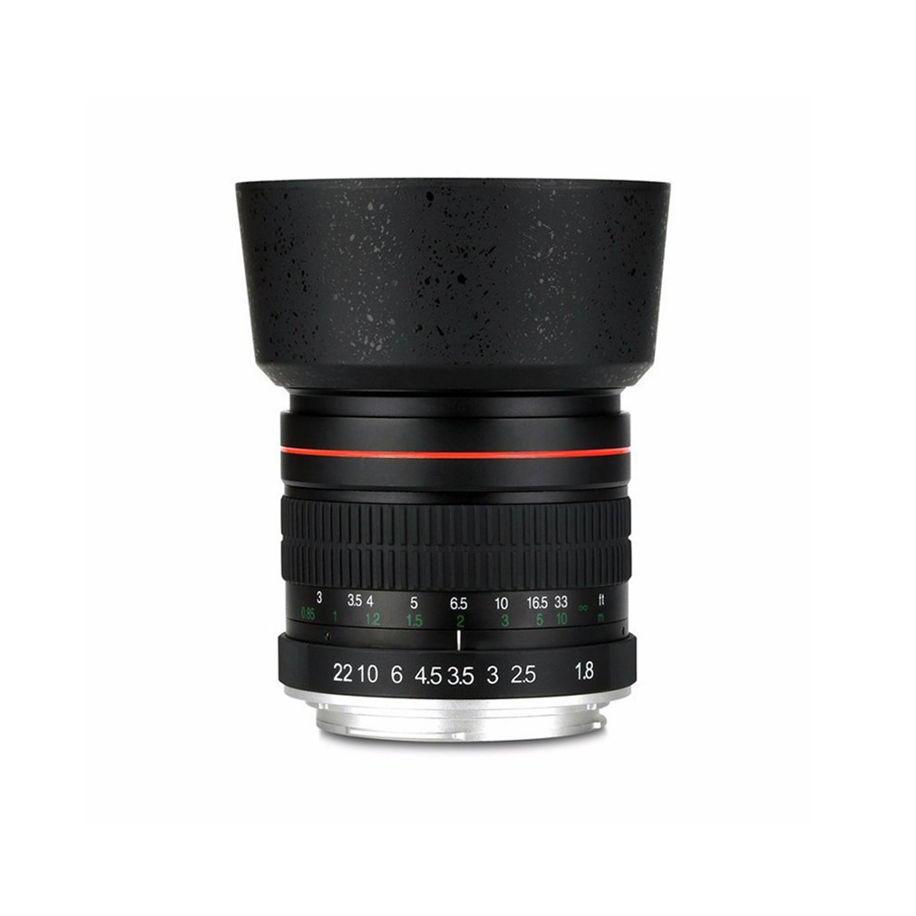 Compact Size 85mm F1.8-F22 Manual Focus Portrait Lens Camera Lens for 550D 600D 700D 5D 6D 7D 60D DSLR Cameras