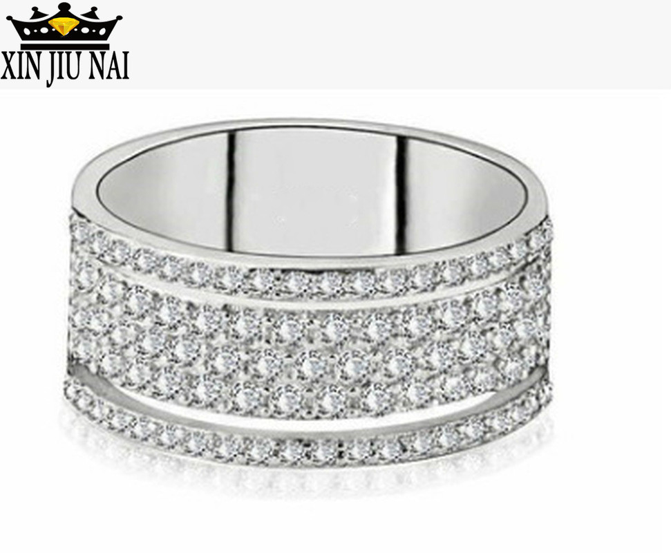 New High Quality Hollow Special Craft Luxury Simple Zircon Silver 925 Ring Women Party Classic Ring Jewelry Gift For Girlfriend