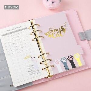 Image 3 - Carnet de notes jamais mignon, à spirale, chat, agenda coréen A6, papier de remplissage à pois, papeterie cadeau pour filles étudiantes
