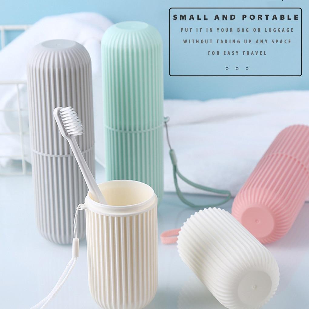 Seyahat taşınabilir diş fırçası kabı banyo diş macunu tutucu saklama kutusu kutu organizatör seyahat tuvalet saklama kabı yeni yaratıcı