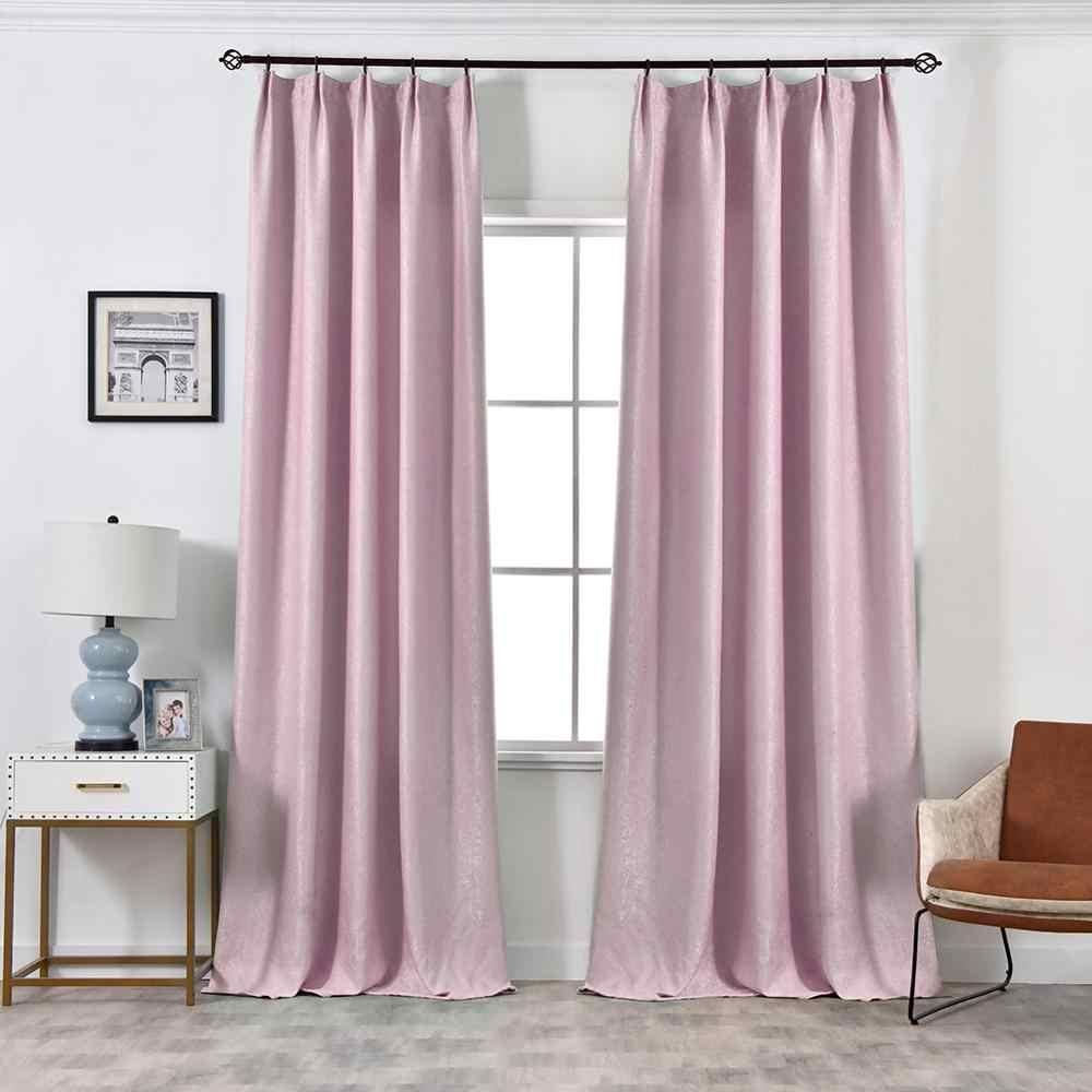 NAPEARL 1 Pezzo tenda Moderna di colore solido trattamenti di finestra blackout tende su misura pronto più colori soggiorno tenda camera