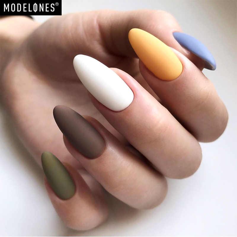 Modelones 6 шт./лот Матовый УФ-гель для ногтей с коробкой для упаковки дизайна ногтей матовый топ лак для ногтей гель лак для ногтей впитывающийся Гибридный гель