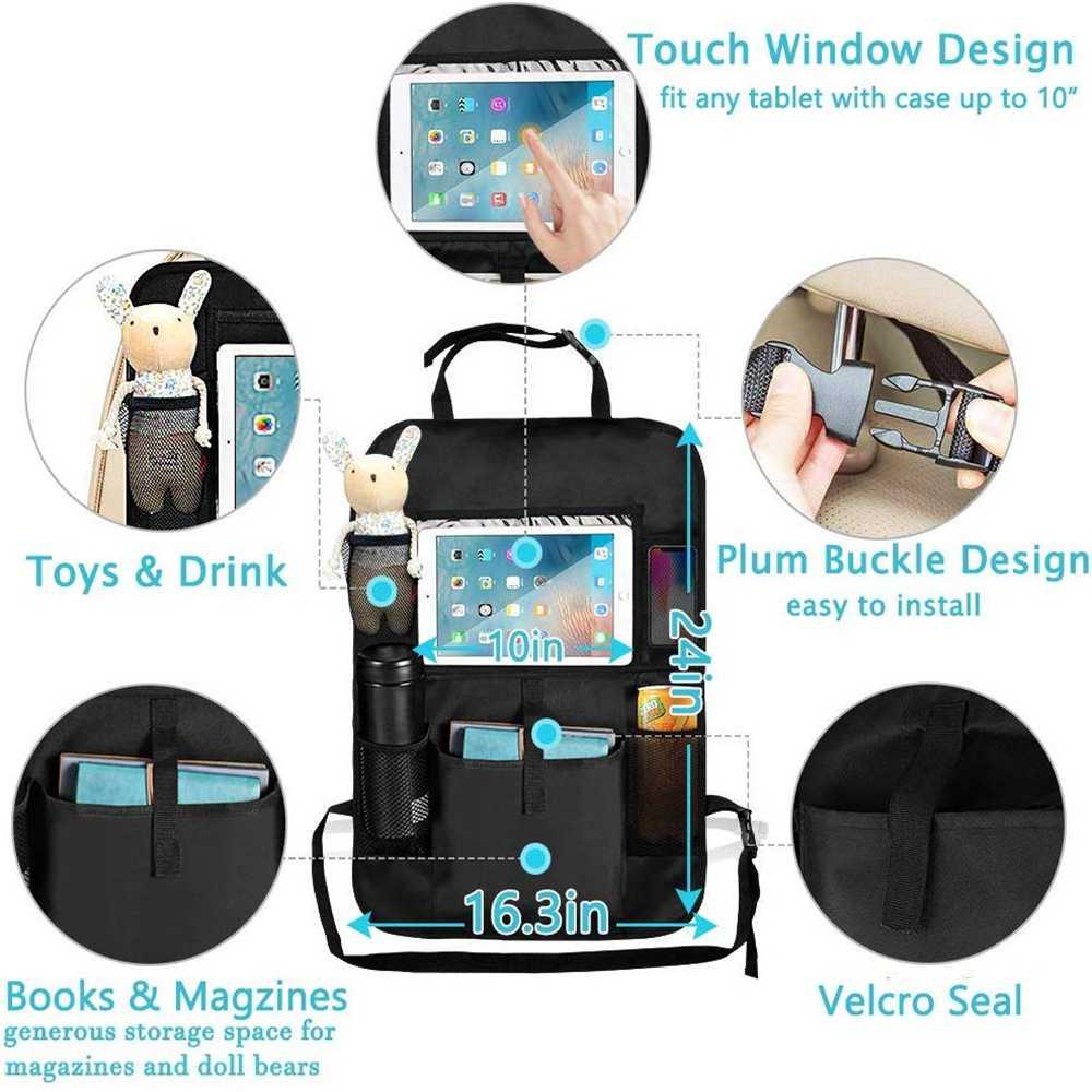 ใหม่มาถึงสะดวกรถที่นั่งกลับ Organizer กระเป๋าเก็บกระเป๋ากล่องกระเป๋าเก็บแท็บเล็ตผู้ถือ organizer