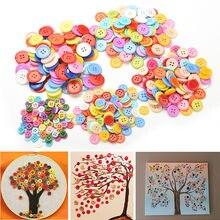 100 pçs/lote diy brinquedo botão flor padrão kits de artesanato crianças brinquedos criativos educativos ferramenta artesanal decoração para casa
