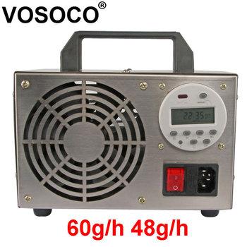 60 g h Generator ozonu oczyszczacz powietrza filtr powietrza dezynfekcja sterylizacja digitaldisplay timer O3 usuń zapach Generator ozonu 220V tanie i dobre opinie VOSOCO 50m³ h CN (pochodzenie) 100 w 220 v 48g h 60g h 61㎡ Przenośne 94 00 Źródło A C 97 00 inny ≤50dB Bez jonizatora