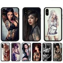 Moda tatuagem menina telefone casos para huawei p9 p10 p20 p30 p40 lite por psmart 2019