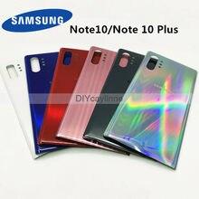 Samsung voltar capa de bateria habitação para samsung galaxy note 10 n970 n970f nota 10 plus n975 n975f note10 volta caixa de vidro traseiro