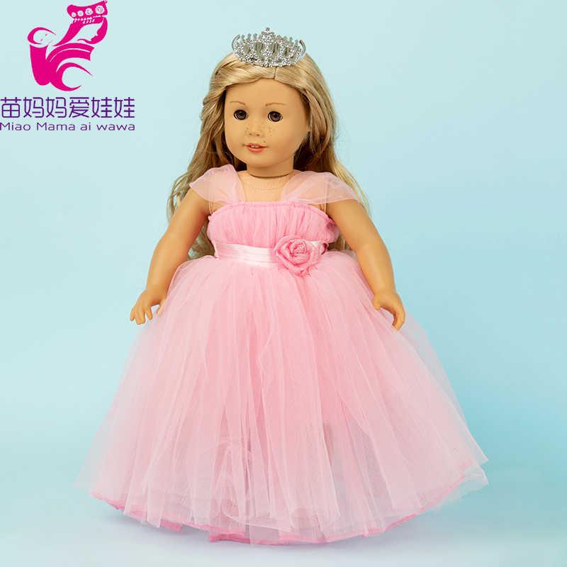 Traje de cola de pato americano de 18 pulgadas de muñeca con capucha de muñeca de 18 pulgadas vestido de novia de muñeca de bebé traje de muñeca de 18 pulgadas