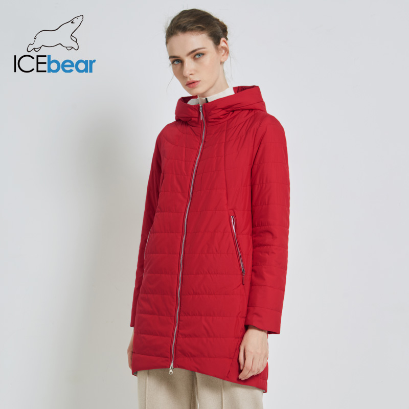 ICEbear 2019 New Women's Fall Coat Fashion Woman Jacket High Quality Women's Clothing Brand Hooded Female Apparel GWC18005I