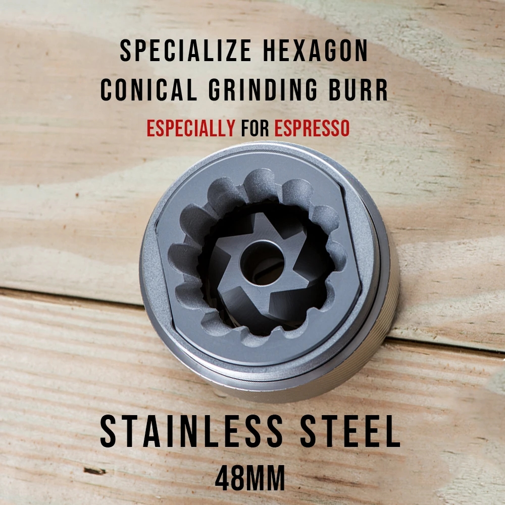 Image 5 - 1pc New 1zpresso Jx 48mm conical burr super coffee grinder  coffee mill grinding core super manual coffee bearing recommendElectric Coffee Grinders   -