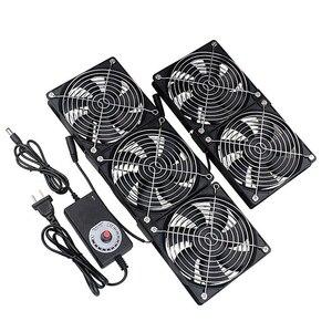 Image 1 - Gdstime 12cm High Speed DC 12V 220V Btc Mining Machine Chassis Workstation Cabinet Radiator 120MM Violent Server Cooling Fan