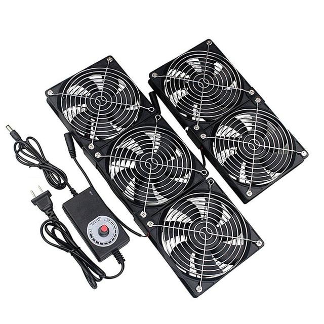 Gdstime 12cm High Speed DC 12V 220V Btc Mining Machine Chassis Workstation Cabinet Radiator 120MM Violent Server Cooling Fan