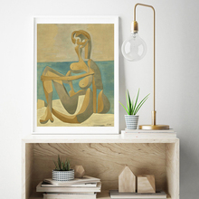 Seated Bather By Picasso Wall Art Canvas Poster and Print Canvas Painting Oil Decorative Picture Living Room Home Decor Artwork sleeping sexy model wall art canvas poster and print canvas painting decorative picture modern living room home decor framework
